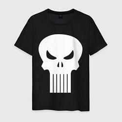 Футболка хлопковая мужская The Punisher Череп цвета черный — фото 1