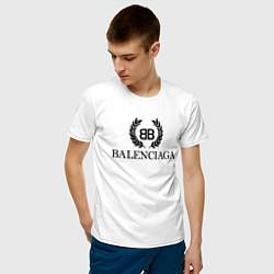 Футболка хлопковая мужская BALENCIAGA цвета белый — фото 2