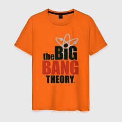 Футболка хлопковая мужская Big Bang Theory logo цвета оранжевый — фото 1
