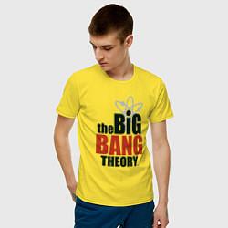 Футболка хлопковая мужская Big Bang Theory logo цвета желтый — фото 2