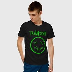 Футболка хлопковая мужская TRAVIS SCOTT цвета черный — фото 2