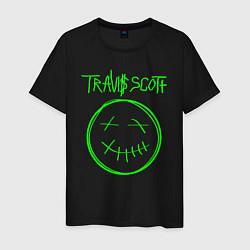 Мужская хлопковая футболка с принтом TRAVIS SCOTT, цвет: черный, артикул: 10220225100001 — фото 1