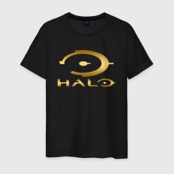 Футболка хлопковая мужская HALO цвета черный — фото 1