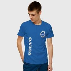 Футболка хлопковая мужская VOLVO цвета синий — фото 2