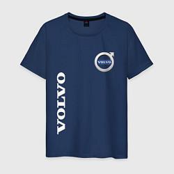 Футболка хлопковая мужская VOLVO цвета тёмно-синий — фото 1