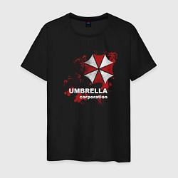 Футболка хлопковая мужская Umbrella цвета черный — фото 1