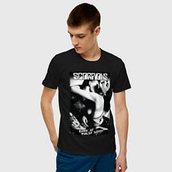 Футболка хлопковая мужская Scorpions цвета черный — фото 2