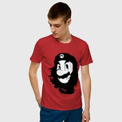Футболка хлопковая мужская Che Mario цвета красный — фото 2