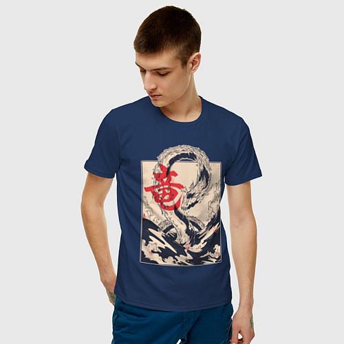 Мужская футболка Морской дракон / Тёмно-синий – фото 3