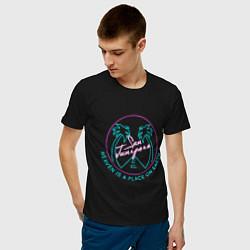 Футболка хлопковая мужская Чёрное зеркало цвета черный — фото 2