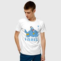 Футболка хлопковая мужская Джинн цвета белый — фото 2