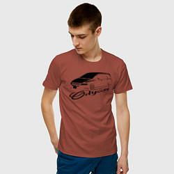Футболка хлопковая мужская Odyssey 3 цвета кирпичный — фото 2