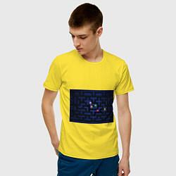 Футболка хлопковая мужская Pacman цвета желтый — фото 2