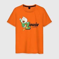 Футболка хлопковая мужская Louie цвета оранжевый — фото 1
