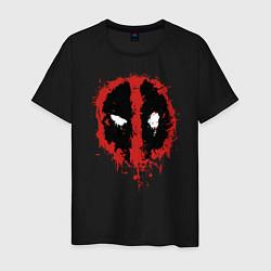 Футболка хлопковая мужская Deadpool logo цвета черный — фото 1