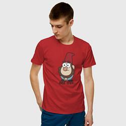 Мужская хлопковая футболка с принтом Все тлен, цвет: красный, артикул: 10275014900001 — фото 2