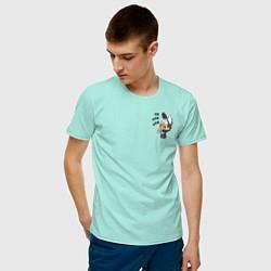 Мужская хлопковая футболка с принтом Диппер в шоке, цвет: мятный, артикул: 10275089500001 — фото 2