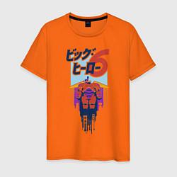 Футболка хлопковая мужская Baymax цвета оранжевый — фото 1
