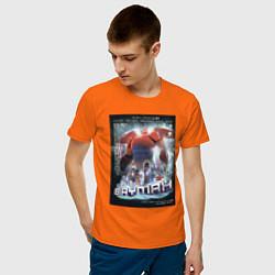 Футболка хлопковая мужская Бэймакс Город Героев 6 цвета оранжевый — фото 2