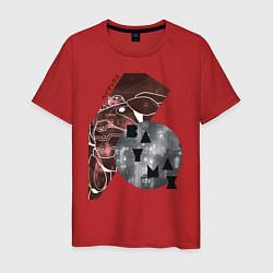 Футболка хлопковая мужская Baymax Big Hero 6 цвета красный — фото 1