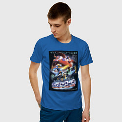 Футболка хлопковая мужская Город Героев 6 цвета синий — фото 2
