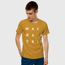 Футболка хлопковая мужская Max Barskih цвета горчичный — фото 2