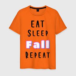 Футболка хлопковая мужская Fall Guys цвета оранжевый — фото 1