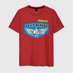 Футболка хлопковая мужская Space Ranger цвета красный — фото 1