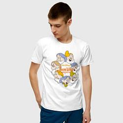 Футболка хлопковая мужская Семь гномов цвета белый — фото 2