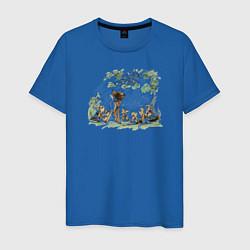 Футболка хлопковая мужская Bambi цвета синий — фото 1