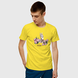 Футболка хлопковая мужская Thumper цвета желтый — фото 2