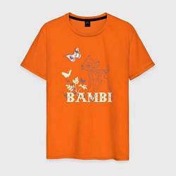 Футболка хлопковая мужская Bambi цвета оранжевый — фото 1