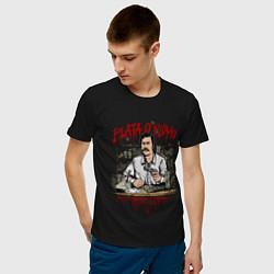 Футболка хлопковая мужская Пабло Эскобар цвета черный — фото 2
