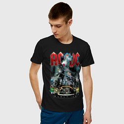 Футболка хлопковая мужская ACDC, Black ice, Рокеры, Паровоз, Метал цвета черный — фото 2