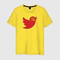 Футболка хлопковая мужская Team Trump цвета желтый — фото 1