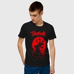 Футболка хлопковая мужская BERSERK цвета черный — фото 2