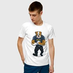 Футболка хлопковая мужская ПИТБУЛЬ SECURITY Z цвета белый — фото 2