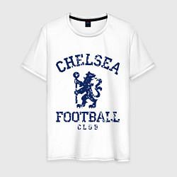 Футболка хлопковая мужская Chelsea FC: Lion цвета белый — фото 1