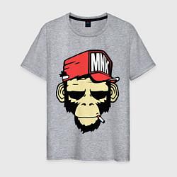 Футболка хлопковая мужская Monkey Swag цвета меланж — фото 1