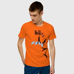 Футболка хлопковая мужская The Beatles: break down цвета оранжевый — фото 2