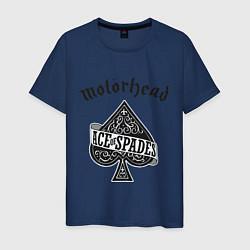 Футболка хлопковая мужская Motorhead: Ace of spades цвета тёмно-синий — фото 1