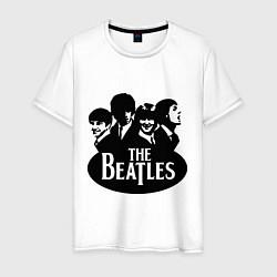 Футболка хлопковая мужская The Beatles Band цвета белый — фото 1