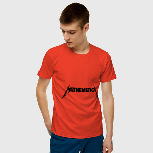 Мужская футболка Mathematica (Математика) / Рябиновый – фото 3