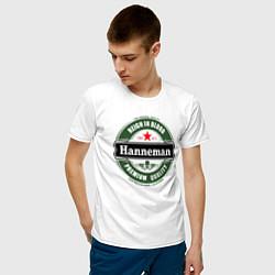 Футболка хлопковая мужская Hanneman цвета белый — фото 2
