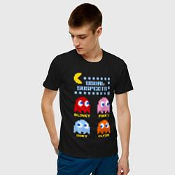 Футболка хлопковая мужская Pac-Man: Usual Suspects цвета черный — фото 2