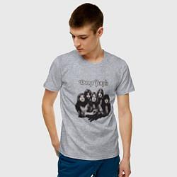 Футболка хлопковая мужская Deep Purple: Rock Group цвета меланж — фото 2