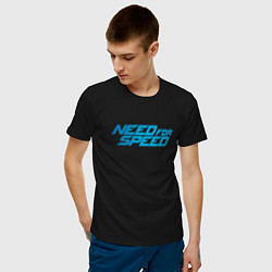 Футболка хлопковая мужская Need for speed цвета черный — фото 2