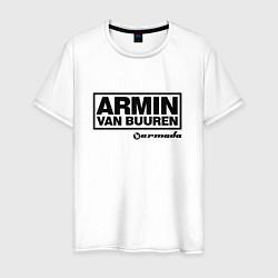 Мужская хлопковая футболка с принтом Armin van Buuren, цвет: белый, артикул: 10061383400001 — фото 1
