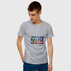 Футболка хлопковая мужская Muse Colour цвета меланж — фото 2