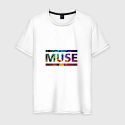 Футболка хлопковая мужская Muse Colour цвета белый — фото 1